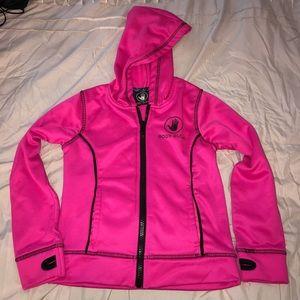 Girls Bodyglove zip front hoodie pink size 5